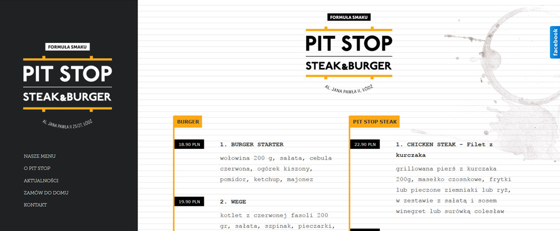 zdjęcia produktów, projekt logotypu - restauracja pitstopburger - agencja kobosystem łódź