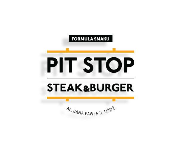 pitstop steak&burger lodz - projekt logo