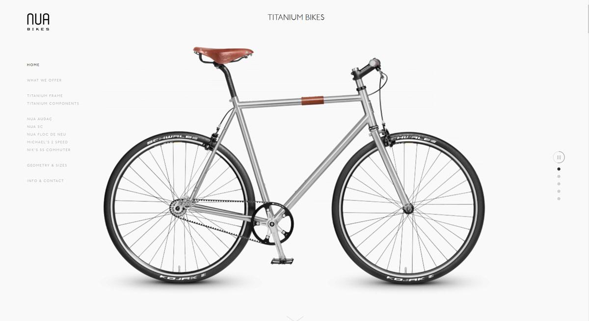 kobosystem prezentuje - strona internetowa producenta rowerów nua bikes