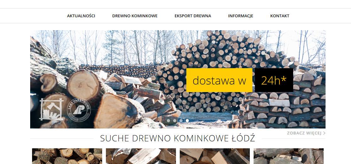 sklep internetowy drewno kominkowe łódź