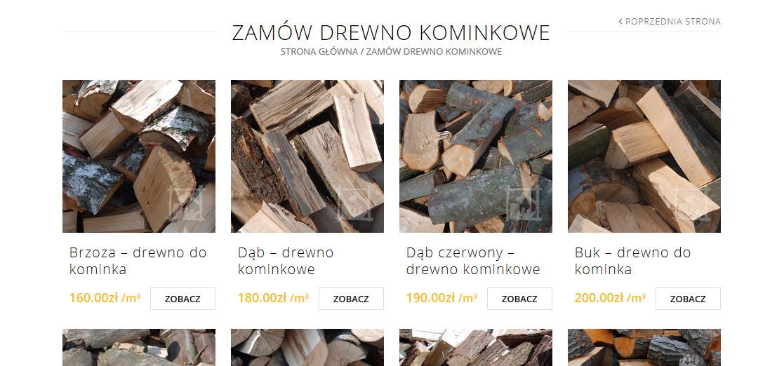 strona www i sklep internetowy drewno kiminkowe