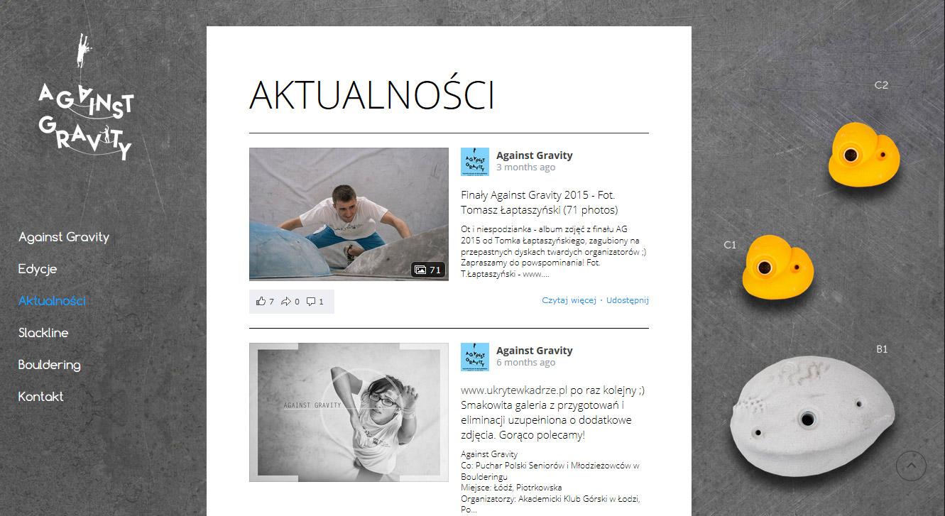 oryginalna strona www na wordpress