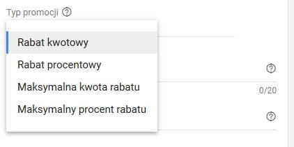 google ads typ promocji